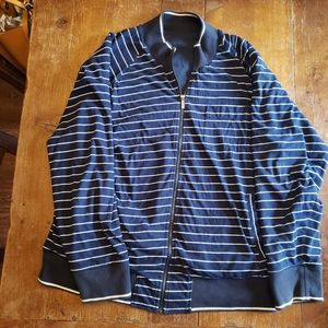 Burberry reversible zip up jacket soft material
